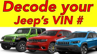 How to Decode your Jeep's Vin Number. 🤔