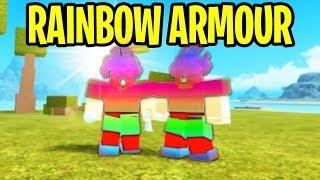 RAINBOW ARMOR Challenge on Booga Booga | Roblox