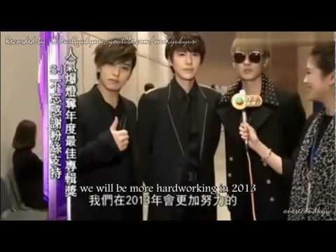 ENGSUB 121201 Eunhyuk, Kyuhyun & Sungmin at TVB MAMA backstage interview