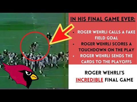 [OC] [Highlight] Hall of Fame CB Roger Wehrli played in 195 games. Amazingly enough, the best play of his career came in game #195. In a 1982 game against the Giants, the 35-year-old CB scored a fake FG touchdown to help the Cards win and make the playoffs. This is the story of that play