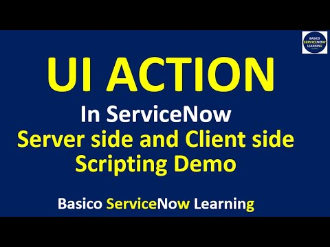 UI ACTION - Server Side and Client Side Scripting Demo with UseCase