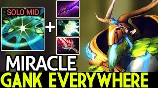 Miracle- [Natures Prophet] New Style Solo Mid Ganking Everywhere Pro Game 7.21 Dota 2