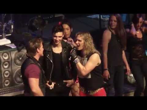 STEEL PANTHER CHRIS JERICHO AND ANDY BIERSACK BVB HOUSE OF BLUES 4/14/2014 ROCK YOU LIKE A HURRICANE