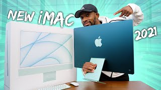 New Apple iMac 2021 Unboxing & First Look! (Green)