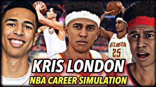 "KRISTOPHER LONDON'S NBA CAREER SIMULATION | WHAT IF 6'10"" LSK WAS IN THE NBA? 