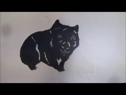 Plasma Cutter Project - Wombat Silhouette