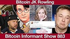 #883 J K  Rowling Bitcoin Twitter Debakel, Bitcoin Transaktionsgebühren steigen & MegaKrypto Scam