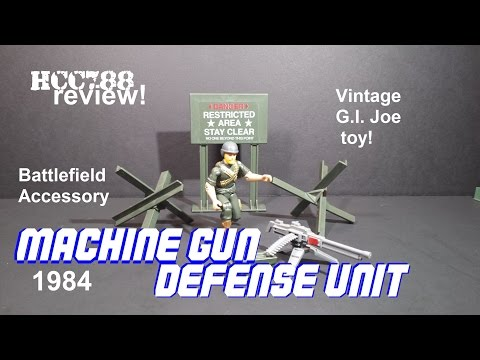 HCC788 - 1984 MACHINE GUN DEFENSE UNIT - Battlefield Accessory - Vintage G.I. Joe toy review!
