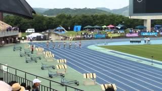 2015年度全中通信兵庫県大会 女子200m準決勝1組目