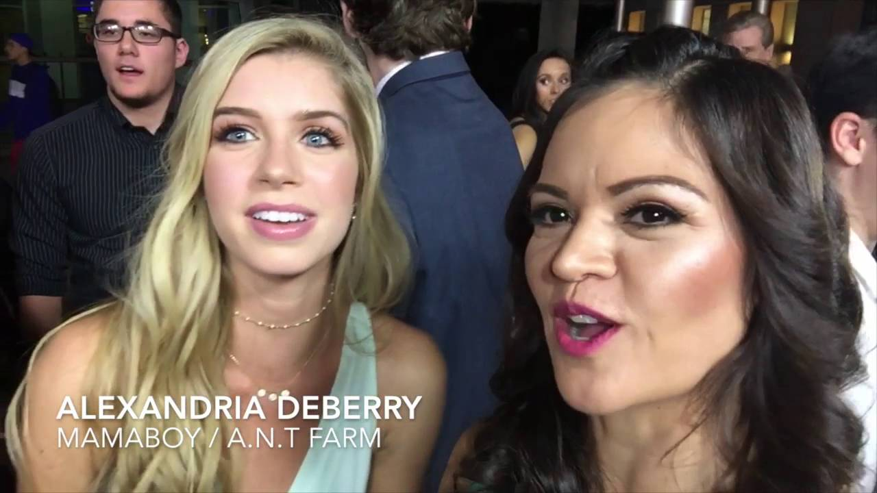 Allie Deberry Hot selfie stick interviews at the premiere of mamaboy