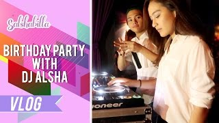 SALSHABILLA #VLOG - ALDI'S BIRTHDAY PARTY WITH DJ ALSHA