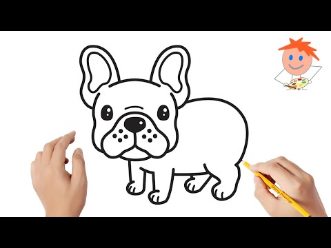 How To Draw A French Bulldog Easy Step By Step | Drawing For Kids ❣️