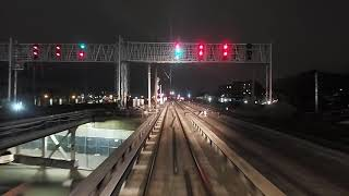 Long Island Railroad (LIRR) M3 Front Window Night Ride Penn Station to Douglaston