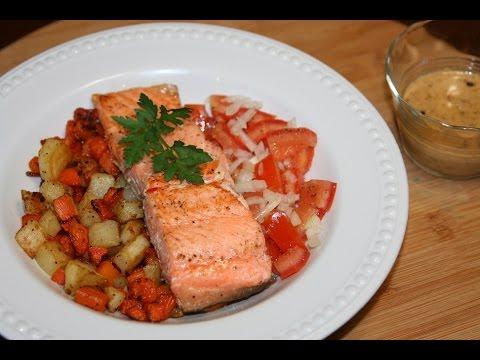 saumon-grillé-&-légumes---grilled-salmon-&-vegetables---سمك-والخضر