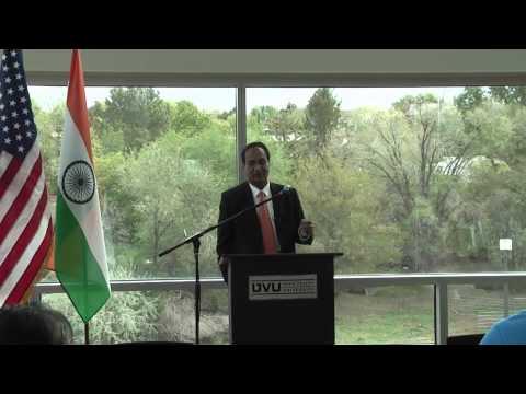 Consul General of India to San Francisco, H.E. Shri N. Parthasarathi at UVU