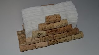 How to make a napkin holder with corks - servilletero con tapones de corcho