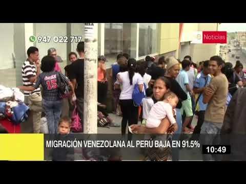 Migración venezolana al Perú baja en 91.5%