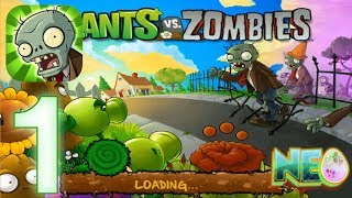 Plants vs. Zombies: Gameplay Walkthrough Part 1 (LEVEL 1.1 - 1.4 COMPLETED) screenshot 2