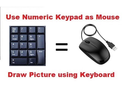 How To Use Keyboard As Mouse || Mouse Key || Mouse Not Working || Mouse Key On Keyboard