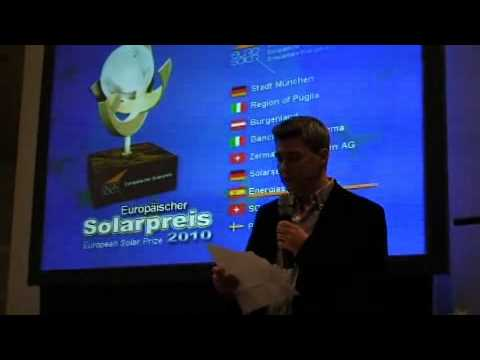Renewable Energy Magazine receives European Solar Prize 2010