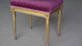 Best Partial Parcel Gilt French Stool Ottoman