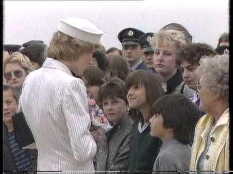 RAF Wittering - visit of Princess Diana