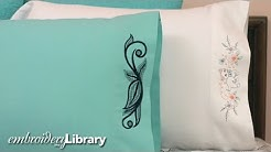 Embroidering on Pillowcases