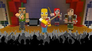 HOMER SIMPSON BECOMES A ROCK STAR | The Simpsons | Minecraft Xbox