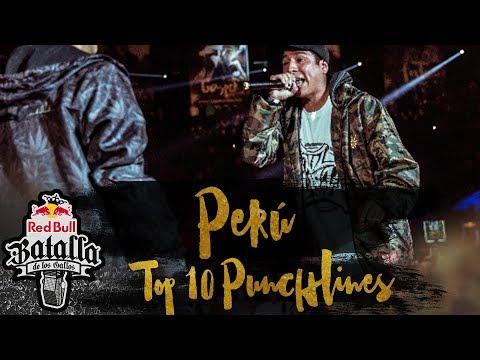Top 10 mejores punchlines de la Final Nacional Perú 2017 - Red Bull Batalla de los Gallos