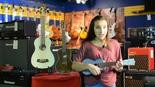 Abby at Main Stage Music Dayton TN Doing a Quick Ukulele Demo