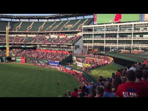 Bells and Baseball at Texas Rangers 2016