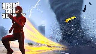 FLASH VS TORNADO - INSANE TORNADO DESTROYS LOS SANTOS - GTA 5 END OF LOS SANTOS MOD