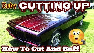 How To Remove Orange Peel / Cut And Buff A Car After Paint - Box Chevy Caprice LS Candy Brandywine