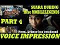 VOICE IMPRESSION OF HEROES Mobile Legends: Bang Bang (PART 4)