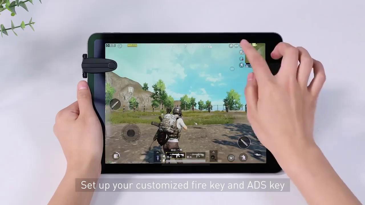 Baseus Shooting Pub G Tetik Nişan Tabletler İçin Oyun Aparatı - YouTube