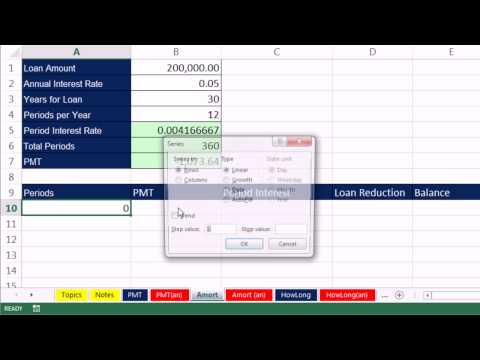 Highline Excel 2013 Class Video 50: Financial Functions: PMT, RATE, NPER and FV 12 Examples