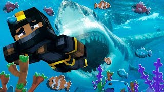 i found a MEGALODON in MINECRAFT... *SCARY*