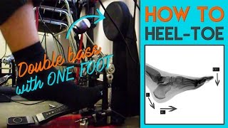 heel toe bass drum lesson double bass on a single pedal