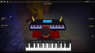 Spotlight by: Marshmello & Lil Peep on a ROBLOX piano.