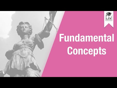 Conflict of Laws - Fundamental Concepts