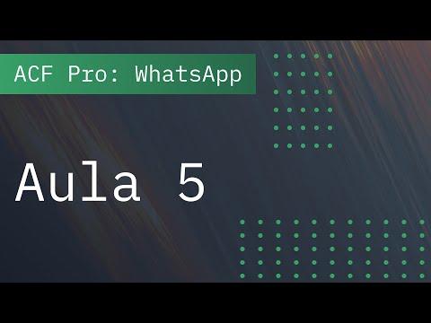 Aula 5: Adicionar campos do WhatsApp