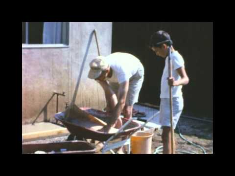 Vintage Home Movies, Mixing Cement, Costa Mesa, California in 1966