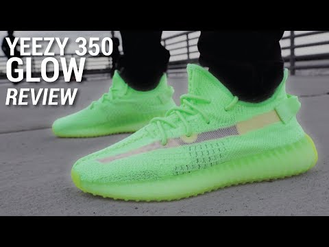 separation shoes ee657 d840f Adidas YEEZY Boost 350 V2 GLOW Review & GIVEAWAY - YouTube