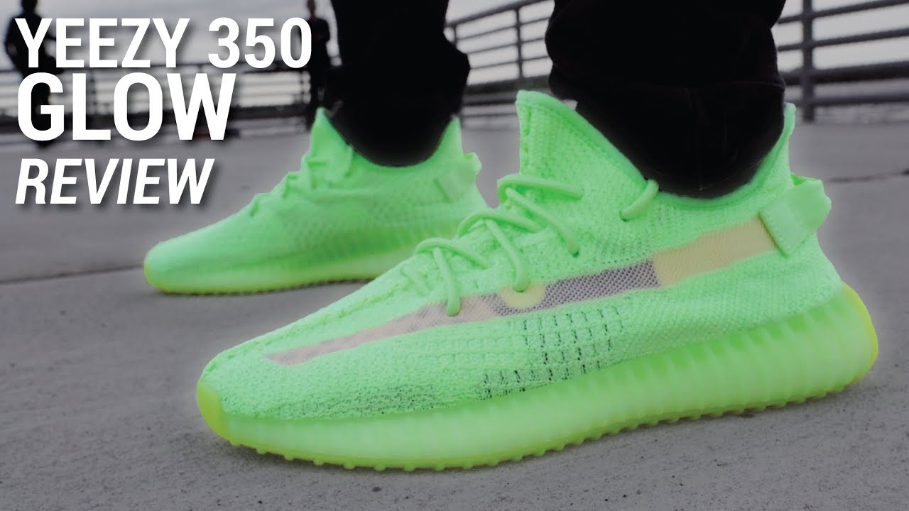 quality design 44fae 6ad29 Adidas YEEZY Boost 350 V2 GLOW Review & GIVEAWAY