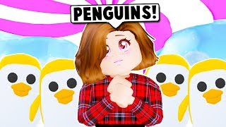 I GOT THE NEW LEGENDARY GOLDEN PENGUIN ON ADOPT ME AND PENGUIN GIVEAWAY! (Roblox)