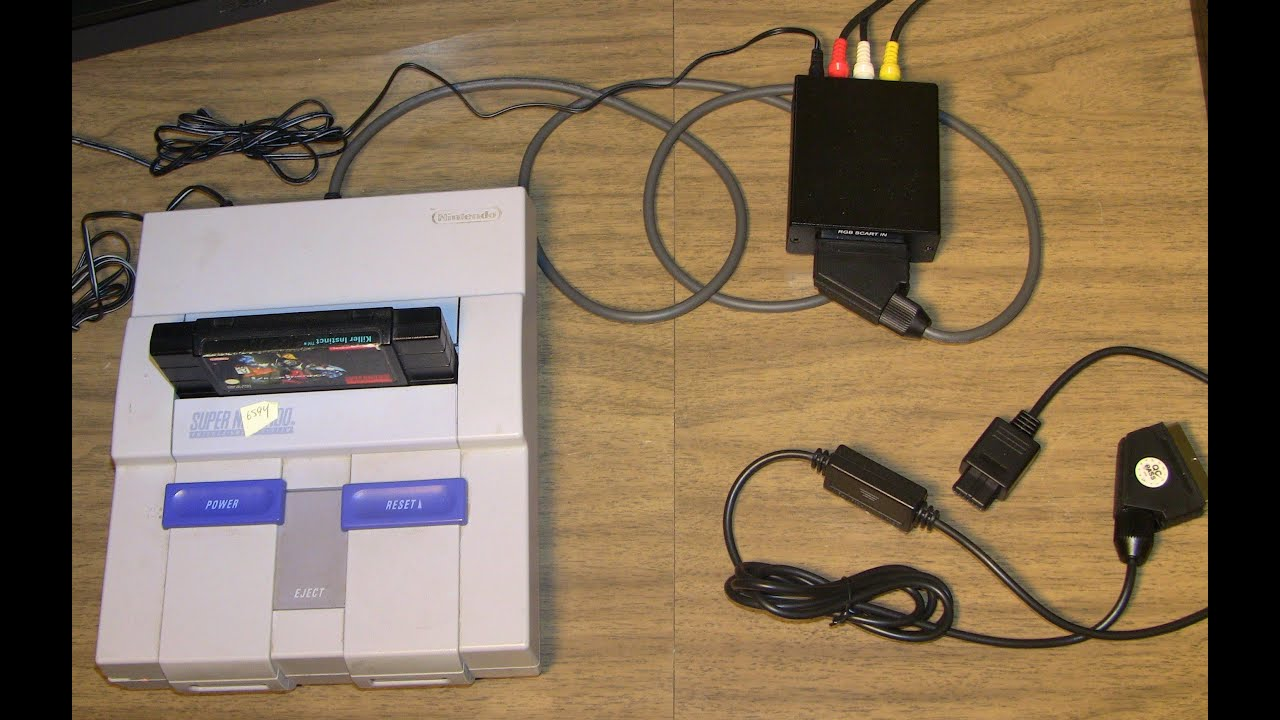 Snes Multi 2 Scart Good Vs Bad Cables Youtube