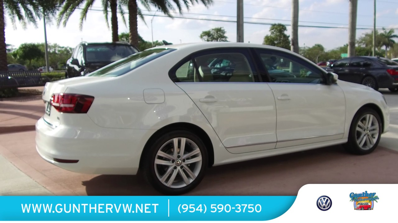 2017 vw jetta features and options review at gunther volkswagen of coconut creek youtube. Black Bedroom Furniture Sets. Home Design Ideas