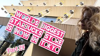 Adeyto 😂can't enter WORLD'S BIGGEST New STARBUCKS STORE @ TOKYO Nakameguro Kuma Kengo 📽️📱HUAWEI