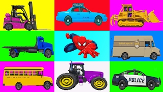 LEARN COLORS with Spiderman Cartoon for children w Nursery Rhymes