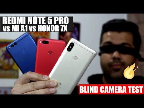 Redmi Note 5 Pro vs Mi A1 vs Honor 7x - Blind Camera Test